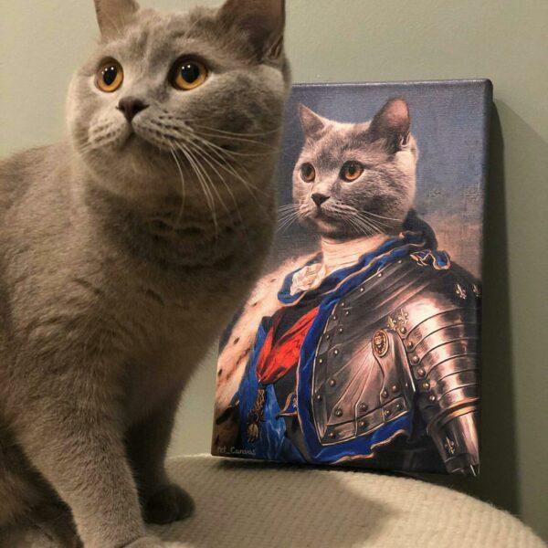 scottish kedi şövalye pet canvas tablosu