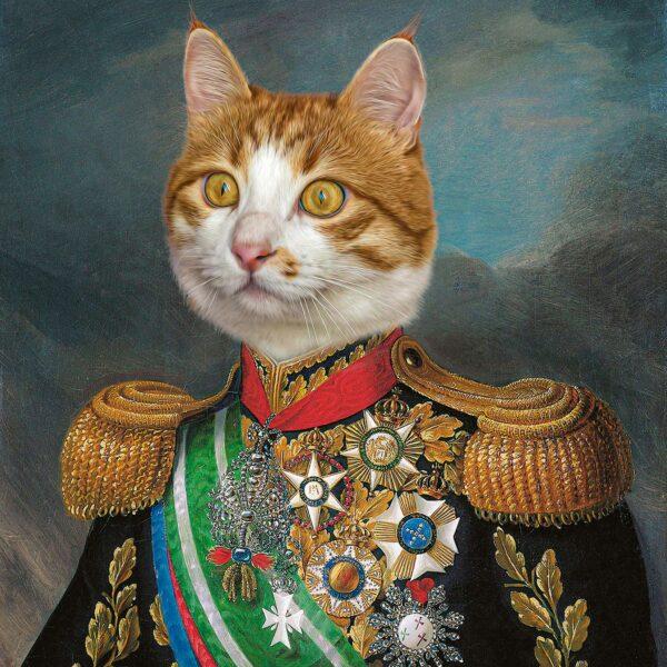kişiye özel turuncu sarman kedi tablosu
