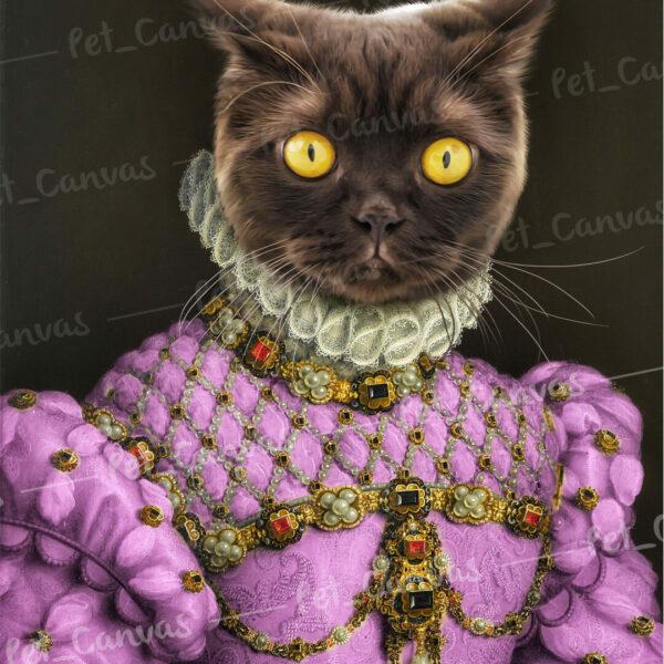 pembe kostümlü siyah british shorthair kedi