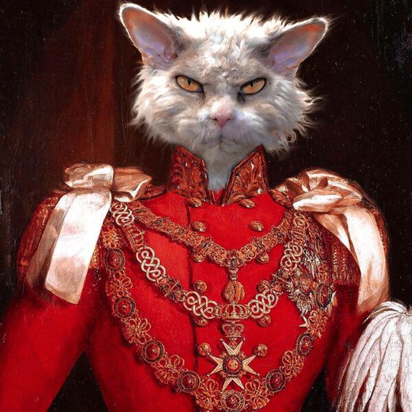 kızgın suratlı kırmızı general