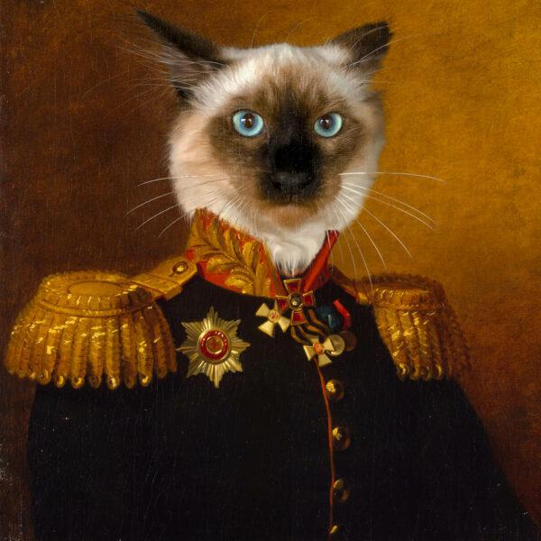 özel tasarım siyam kedisi tablosu