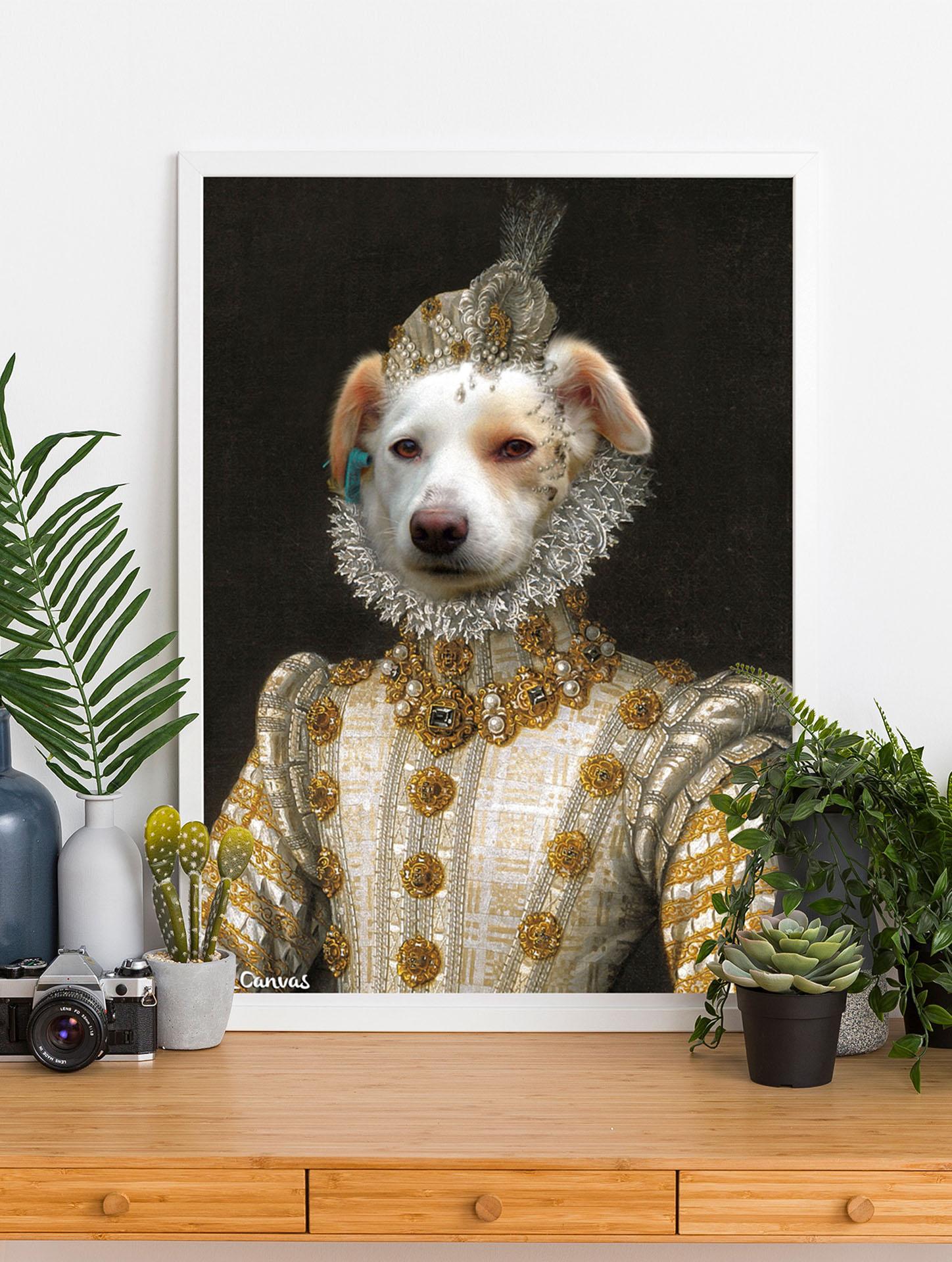 kraliçe köpek portresi