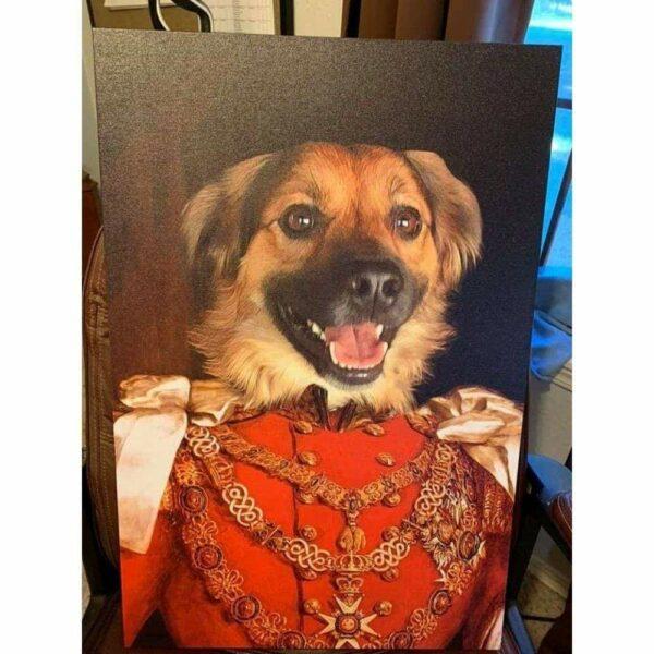 kırmızı üniformalı köpek tasarım