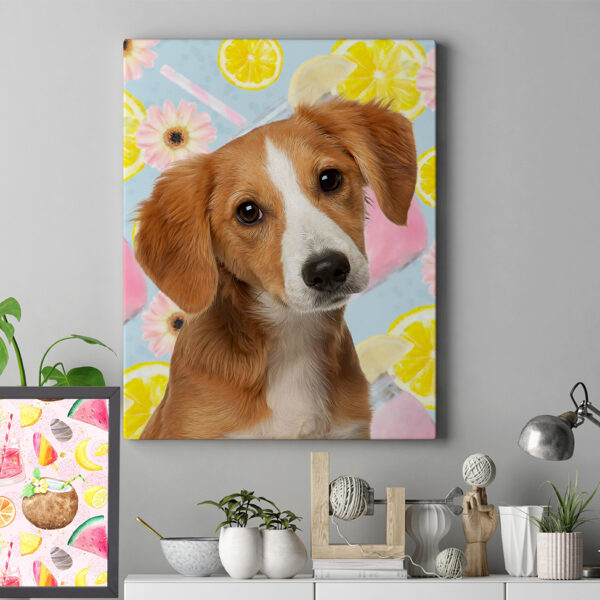 smoothie pop art evcil hayvan köpek tablosu