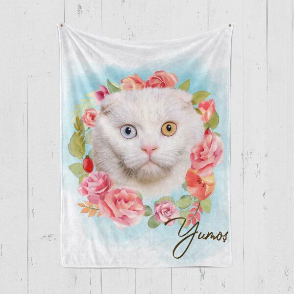 çiçek halkalı özel tasarım isimli polar battaniye