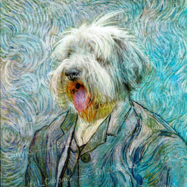 van gogh köpek pet portre