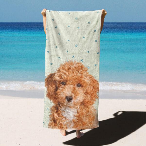 özel tasarım evcil hayvan yeşil XoX plaj havlusu