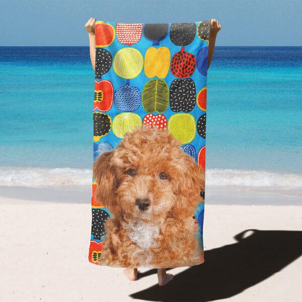 özel tasarım evcil hayvan portre meyve kesitli plaj havlusu