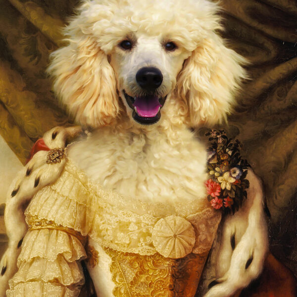 Evcil Husky köpek Kraliçe Prenses Rönesans Kanvas Tasarımı