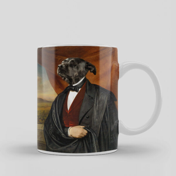 başkan tasarımlı köpekli kupa