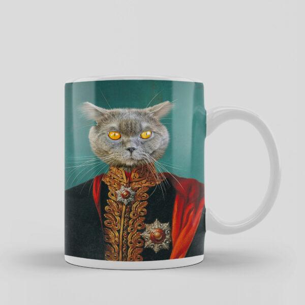 paşa kostümlü kedili kupa baskı
