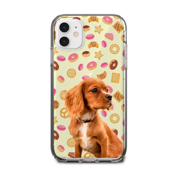 donut desenli köpekli telefon kılıfı
