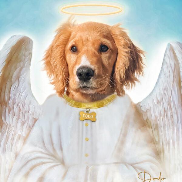 melek kanatlı golden retriever
