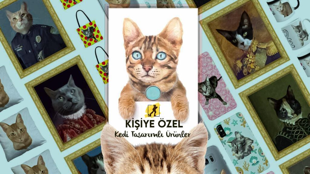 kişiye özel kedi tasarımlı ürünler
