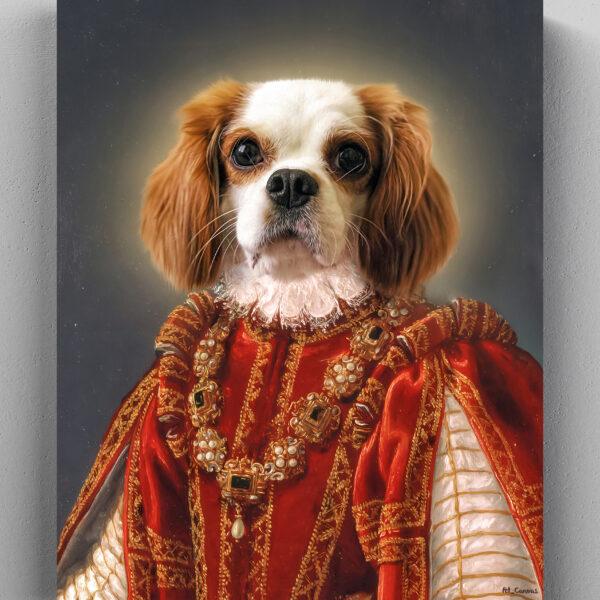 king cavalier kraliçe tablo