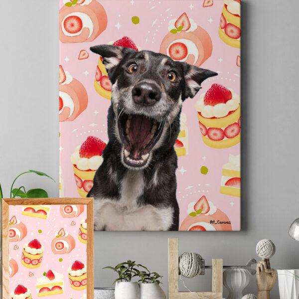 Pembe tatlı pop art tablo