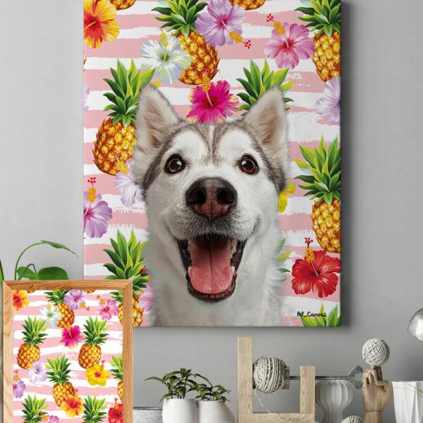 tropik meyveli ananas pop art