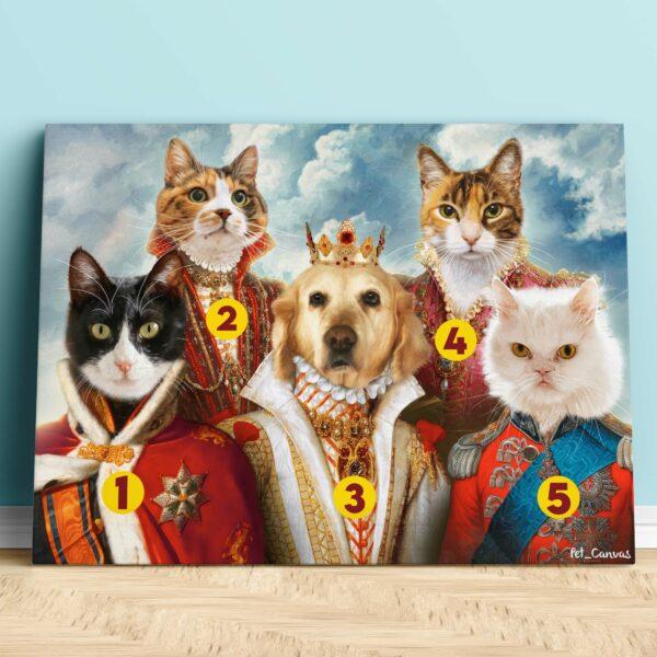 5li Özel Tasarım Evcil Hayvan Kanvas Tablo