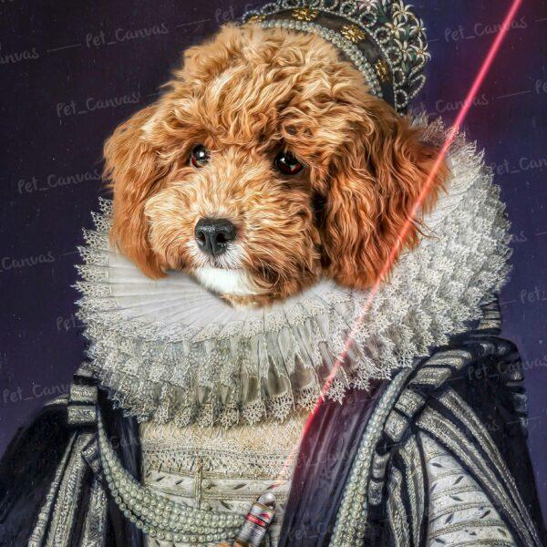 oyuncaklı kraliçe köpek pet canvas